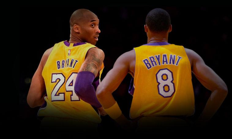 Kobe Bryant foi o primeiro jogador na história da NBA a ter dois números  diferentes retirados pela mesma equipe. d558b3cf1b236