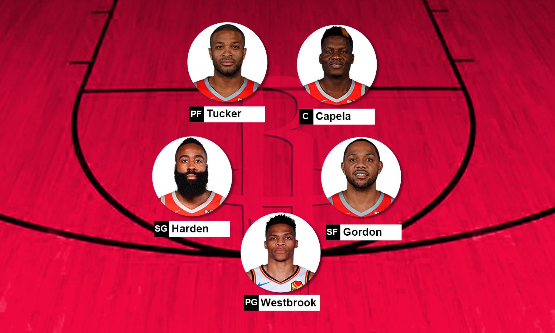 Possível escalação do Houston Rockets para a temporada 2019-20 da NBA