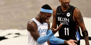 Schroder Irving expulsos Lakers vence Nets