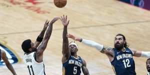 Irving Nets vence Pelicans