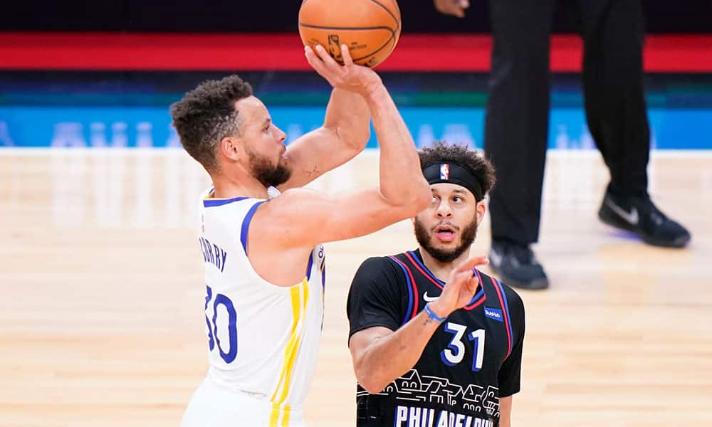 Curry 49 Warriors 76ers